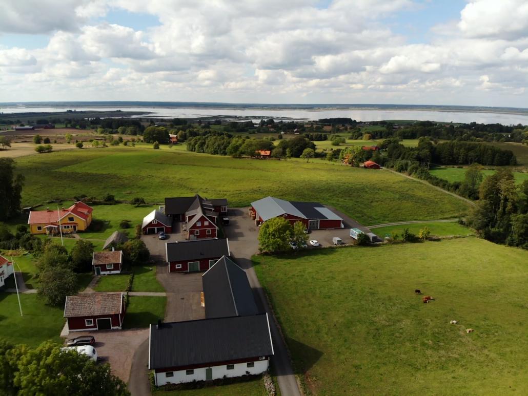 Flygbild av B&L Lund